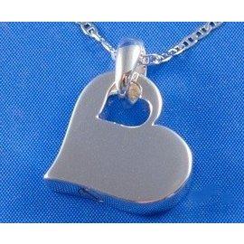 Zilveren ashanger - Hart in hart