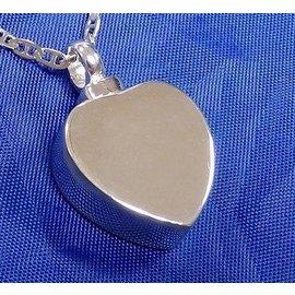 Zilveren ashanger - Strak hartje