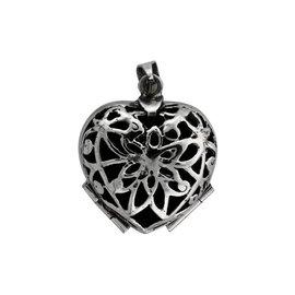Medaillon voor 4 foto's in hartvorm
