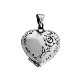 Medaillon voor 2 foto's in hartvorm