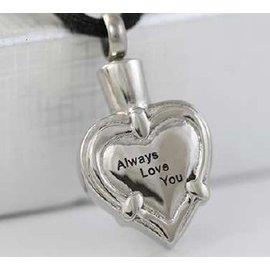RVS Ashartje met tekst - Always love you