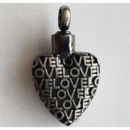 RVS Ashartje - met LOVE - relief