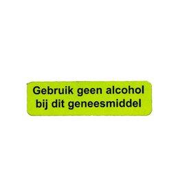 Gebruik geen alcohol v.a. €1,50