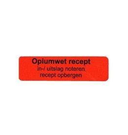Opiumwet recept in-/uitslag v.a. €1,50