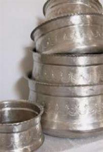 Ottomania Hammamschaal 10cm met ingeslagen motiefjes