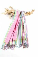 PURE Kenya kikoy strandlaken multi stripes pink 170x95cm