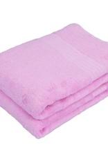 sauna handdoek bamboe roze 140x70
