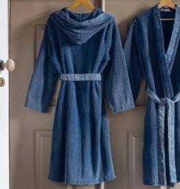 Lasa Home petrol kimono badjas L met capuchon