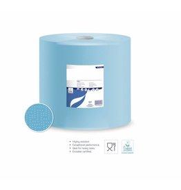 Poetsrollen Blauw Industrie 3 laags x 36cmH x 360m