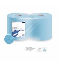 Poetsrollen Blauw Industrie 2 laags x 26cmH x 350m