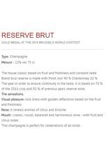Champagne Bernard Gaucher Reserve Brut 75cl