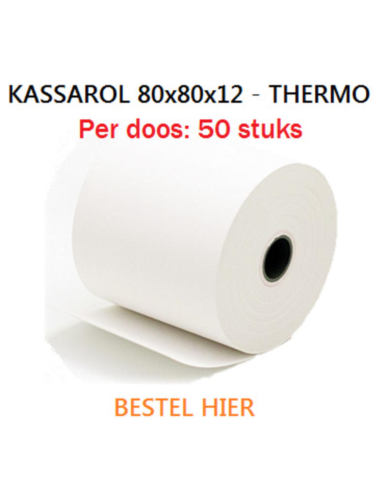Kassarollen 80x80x12 thermisch 50st.