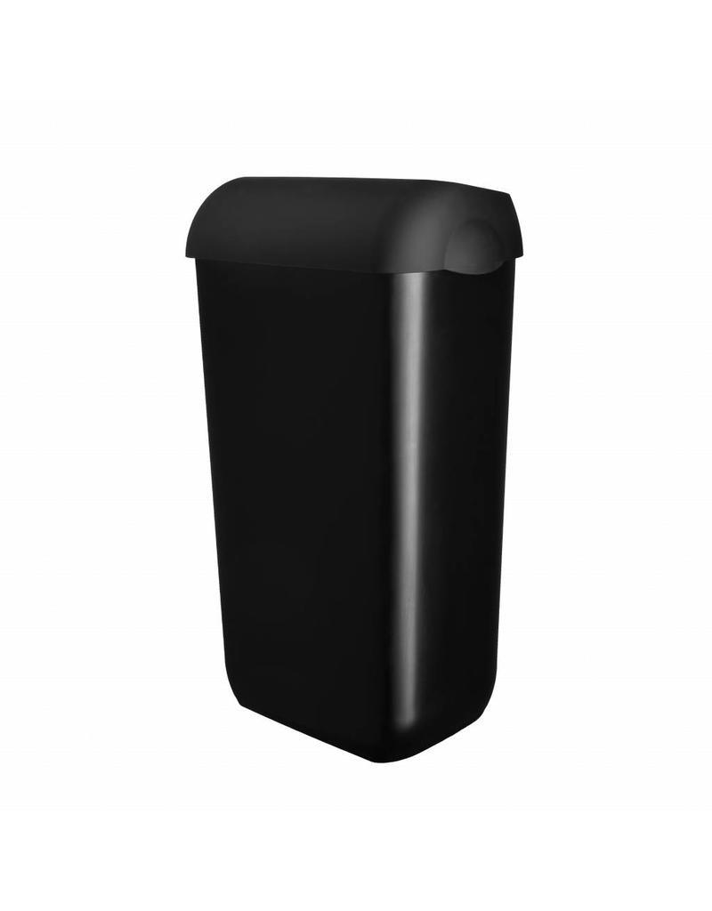 Vuilbak Zwart 23L met Open Deksel