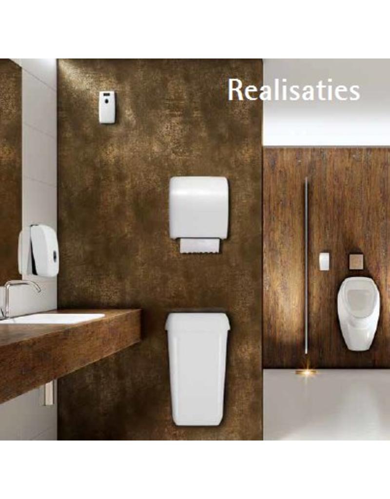 Dispenser voor coreless toiletpapier wit