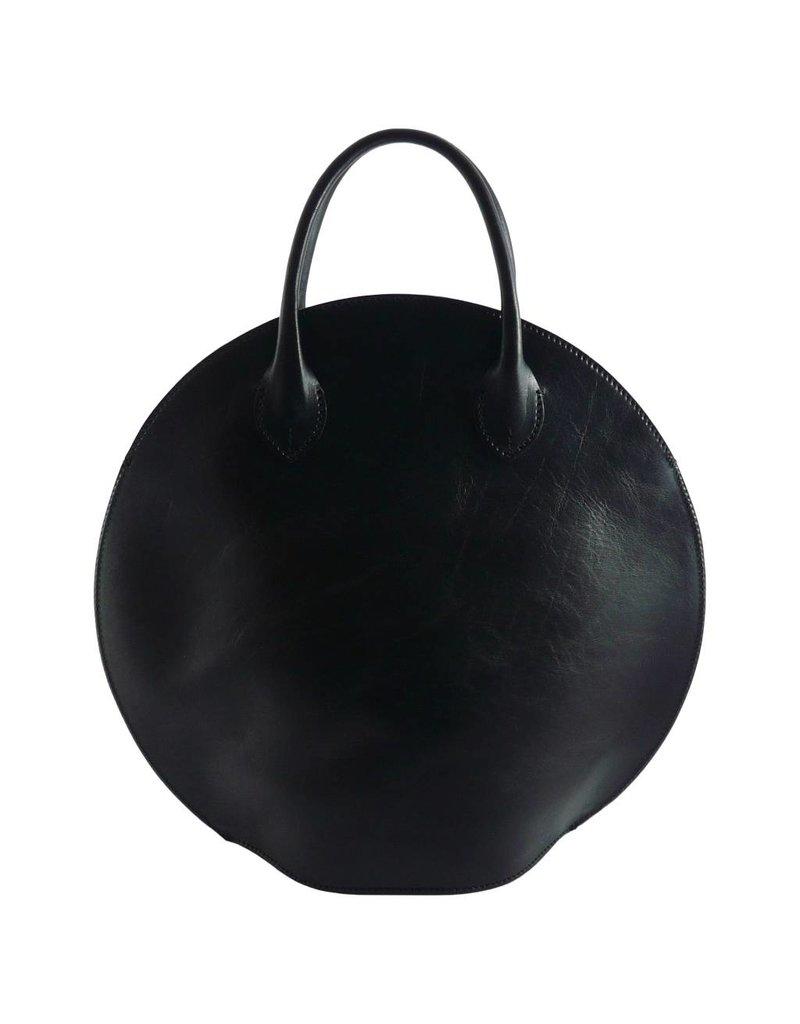 The Manual Co Handtasche rund Braun oder Schwarz