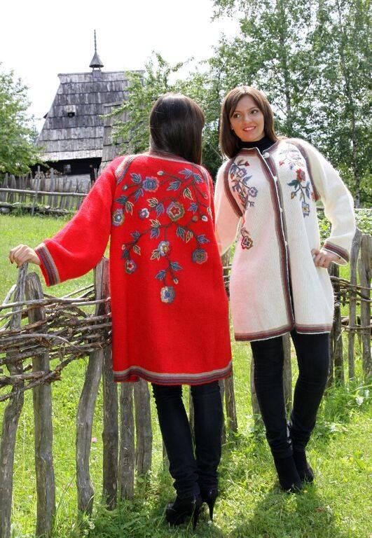 Sirogojno-Style Weisse Wolljacke