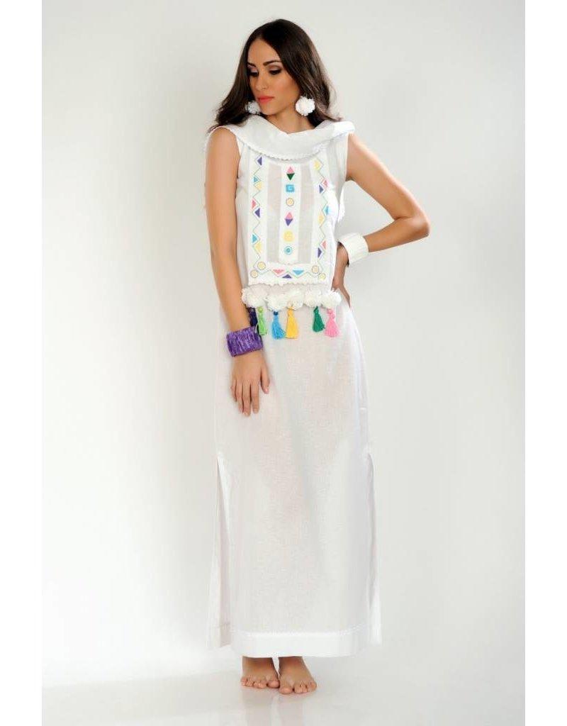 iskon mode Verspieltes Leinenkleid