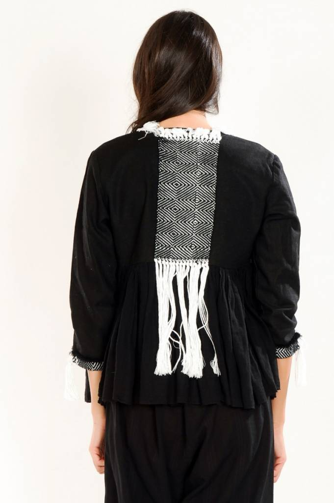 iskon mode Schwarze Jacke