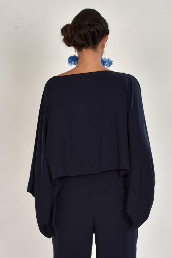iskon mode Blaue Bluse