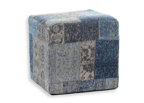 Trinity creations pouf ming blue vloerkledenwebshop - Pouf eigentijds ontwerp ...