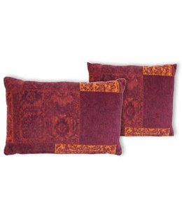 Trinity Creations Patchwork Cushion Tomato