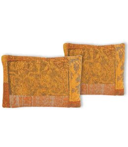 Trinity Creations Patchwork Cushion Tangerine