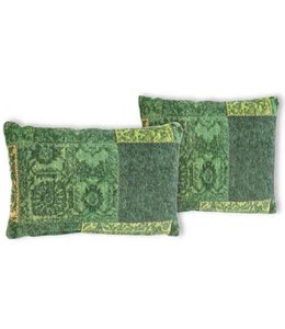Trinity Creations Patchwork Cushion Spring Green