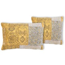 Patchwork Cushion Mustard