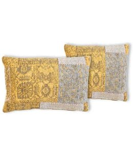 Trinity Creations Patchwork Cushion Mustard