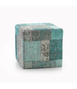 Trinity Creations Patchwork Pouf Lagoon