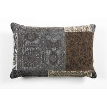 Patchwork Cushion Anthracite
