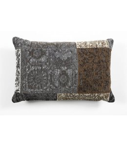 Trinity Creations Patchwork Cushion Anthracite