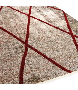 Brinker Carpets Cross Silver Red