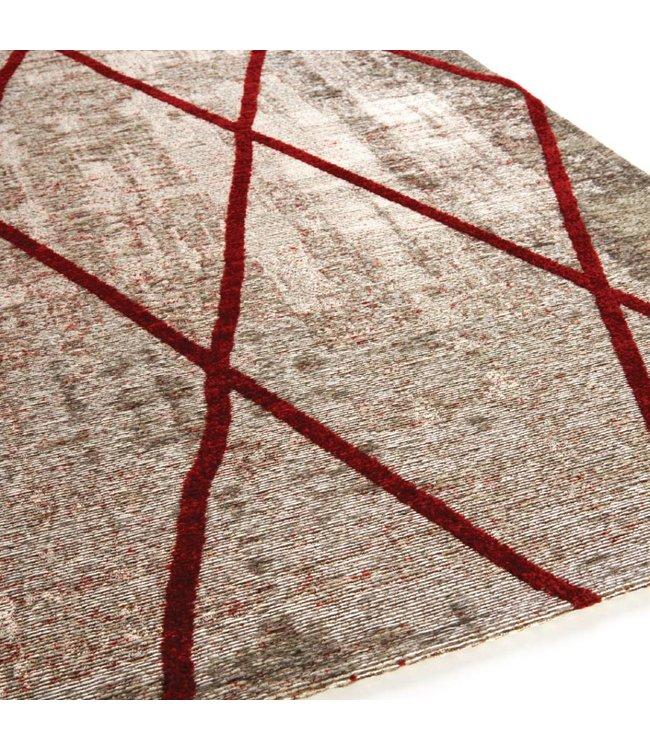 Brinker Carpets Cross Silver Red