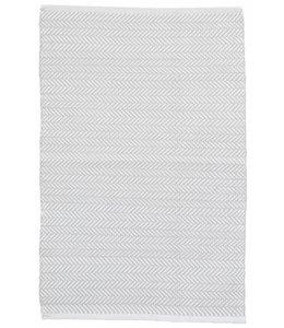 Dash & Albert Herringbone Pearl Grey/White
