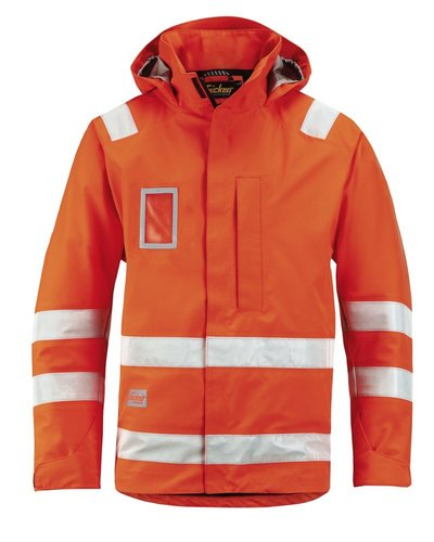 Snickers Workwear 1973 Waterproof Jack High Visibility Klasse 3