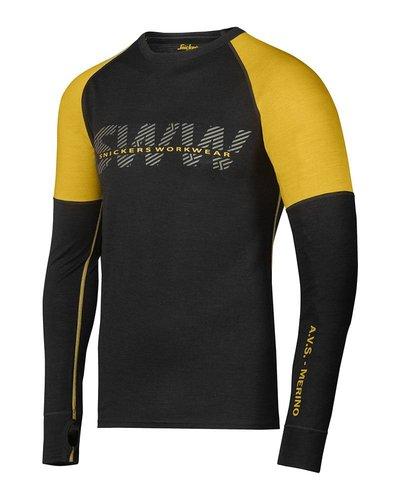 Snickers Workwear 9415 T-shirt Merino, lange mouwen