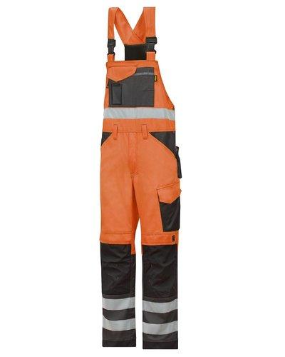 Snickers Workwear 0113 High Visibility Bib & Brace Klasse 2
