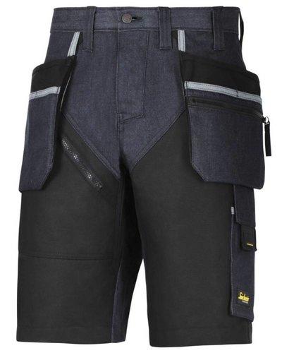 Snickers Workwear 6104 RuffWork Denim Korte Broek+ met holsterzakken