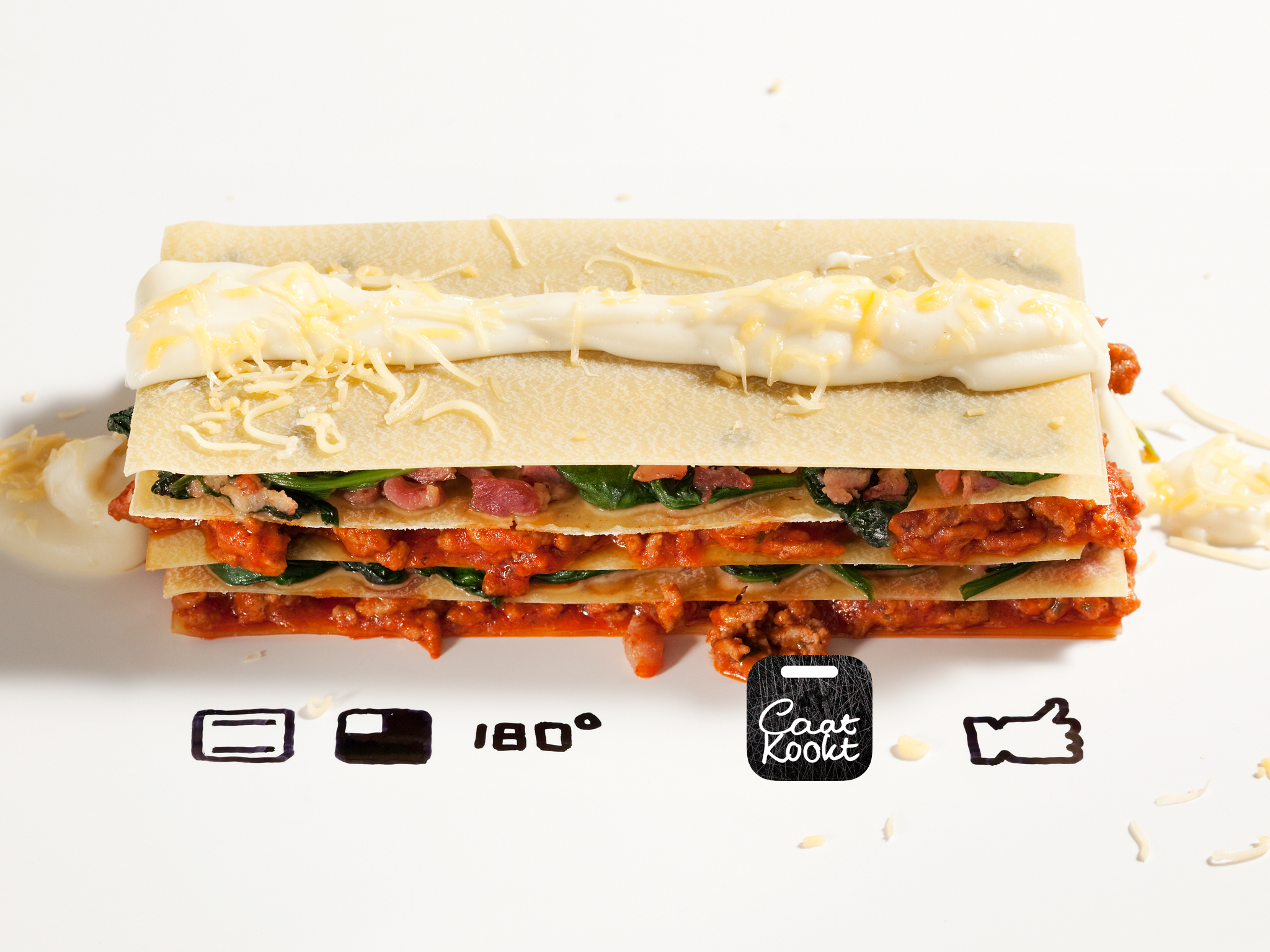 Caat Kookt: Spinazie lasagne.