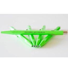 Fluo-Line grün mit Gravur