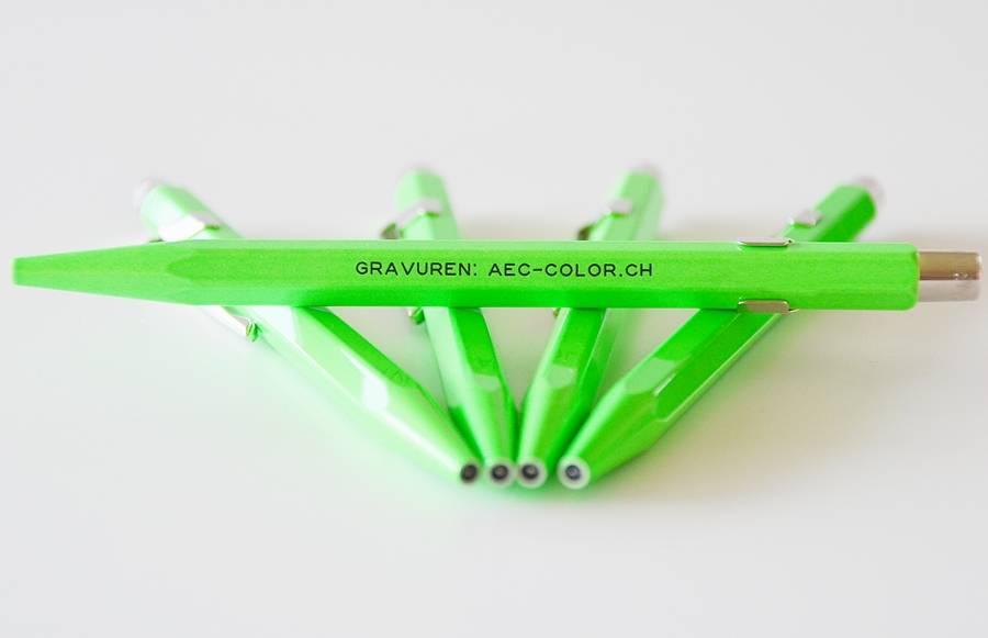 Fluo-Line Kugelschreiber grün mit Gravur