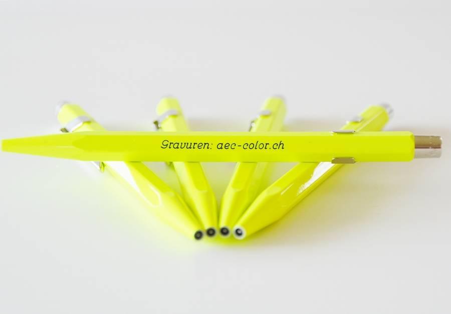 Fluo-Line Kugelschreiber gelb mit Gravur