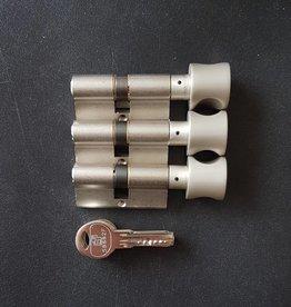 S2skg**F6 3 gelijksluitende knopcilinders 8 keersleutels