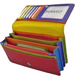 Burkely Multicolor Leder Damen Akkordeon Geldbörse Umschlag Rot