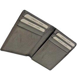 Burkely Luxus Flacher Lederner Kartenbehälter Vollrind Schwarz