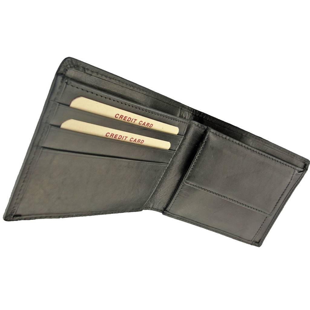 d15551d36ed Burkely Heren Billfold Eenvoudig Volrund Zwart - Barneys Leather