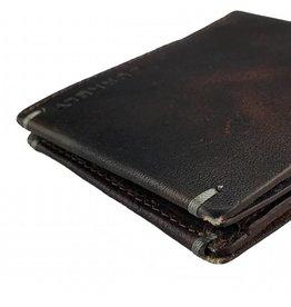 Burkely Herren Geldbörse Vintage Flach Braun