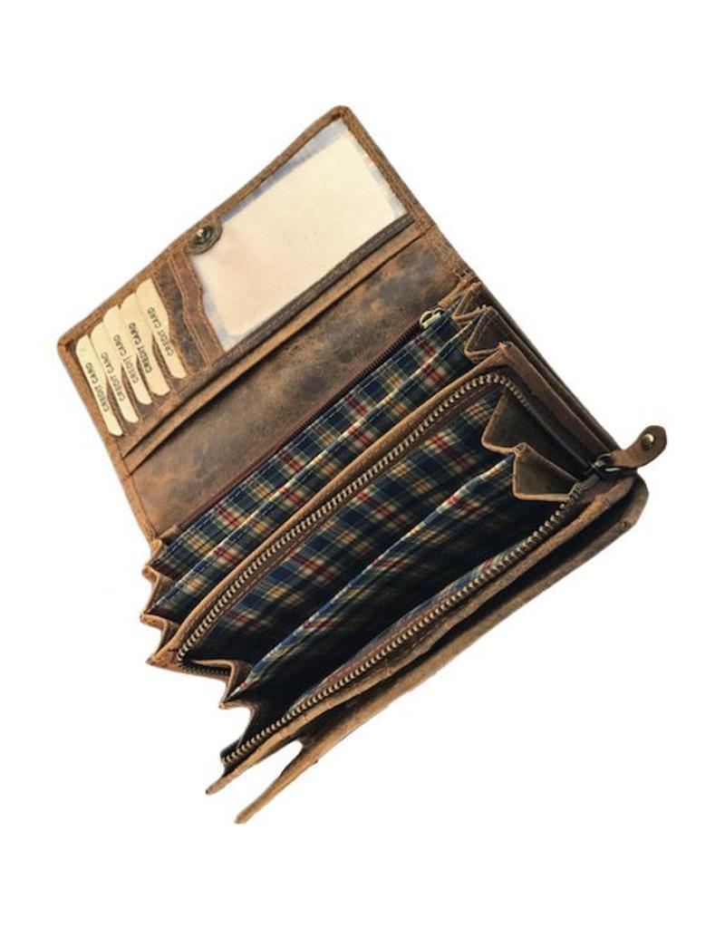 Stoere Dames RFID Portemonnee Veel Pasjes