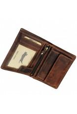 Herren RFID Geldbörse Pull-Up Leder Hochformat